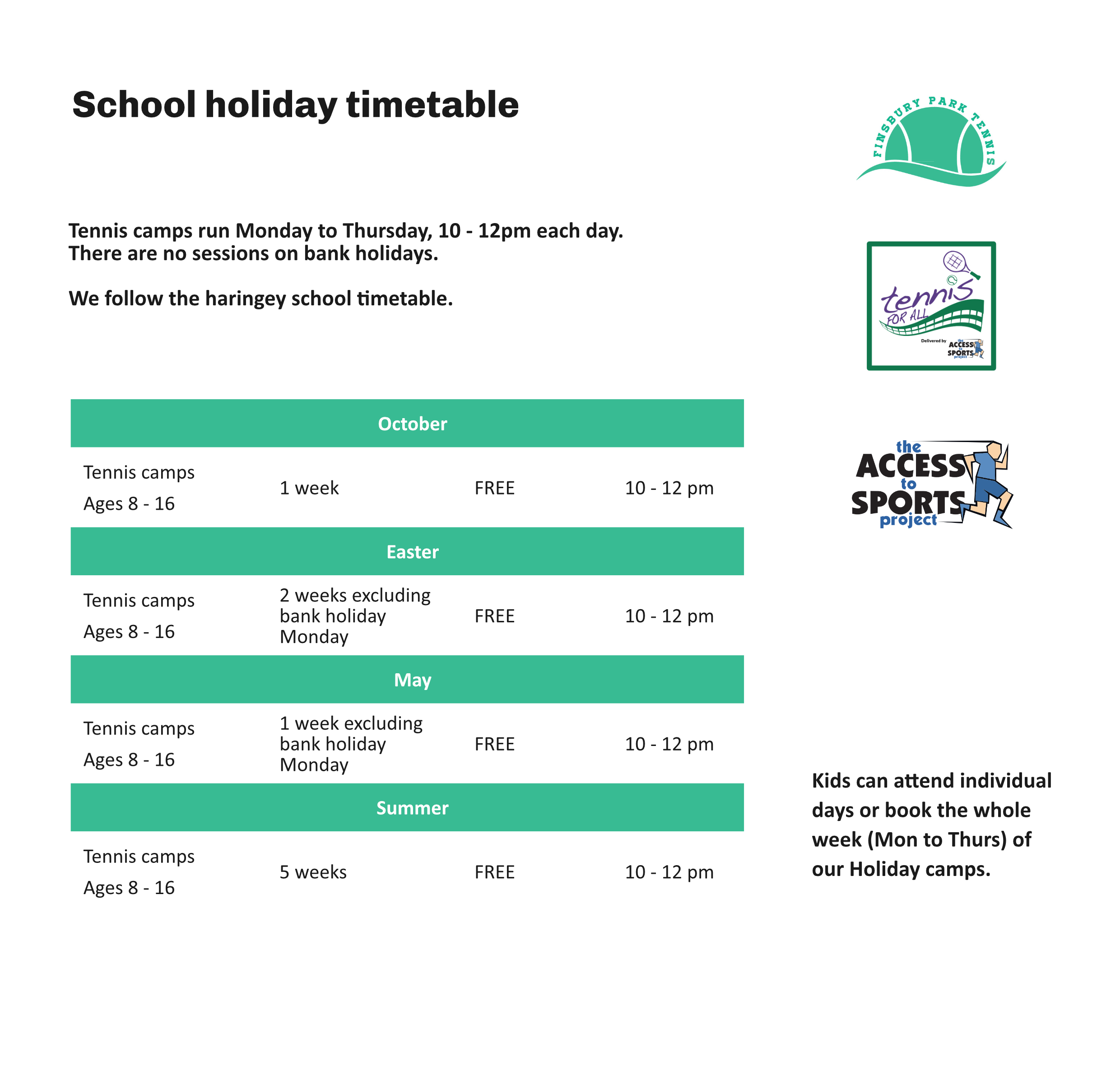 FPT holiday timetable-a